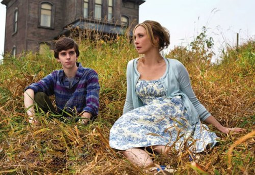 First look: Bates Motel A first look at A&E's upcoming Psycho prequel — featuring Finding Neverland's Freddie Highmore as teenage Norman Bates, Vera Farmiga as his 'Mother! Oh God, Mother!' and the infamous residence itself — has surfaced. From executive producers Carlton Cuse (LOST) and Kerry Ehrin (Friday Night Lights, Parenthood), Bates Motel (slated to bow in 2013) gives a contemporary look at Norman's formative years, including his storied relationship with his mother. As expected, the glimpse into their respective backstories will reveal how the future serial killer came to be.