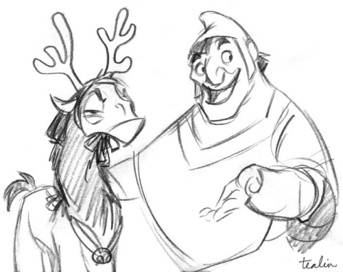 There was a Christmas show being worked on in another part of the studio where I used to work, which had John Goodman as one of the voices.  Occasionally I would hear him talking about reindeer, but this was all I could picture.