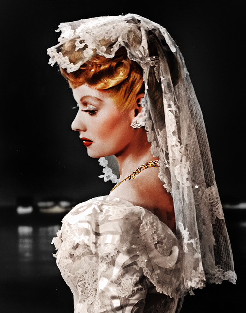 vintagegal:  Lucille Ball in a promotional photo for Two Smart People (1946)