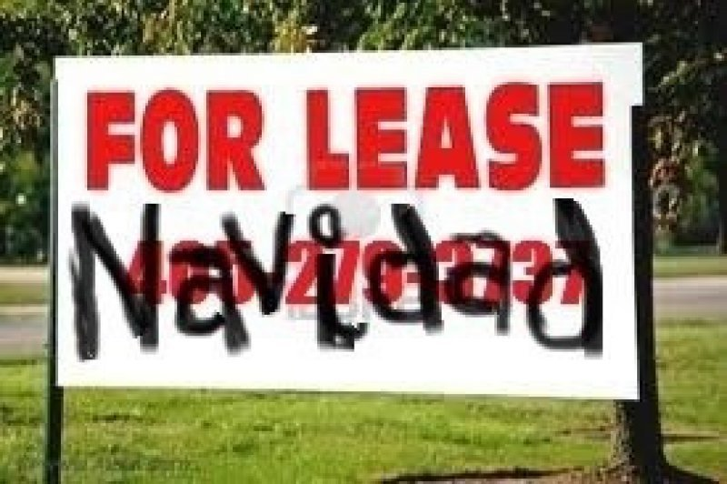 collegehumor:  For Lease Navidad Ho! Ho! House for lease.