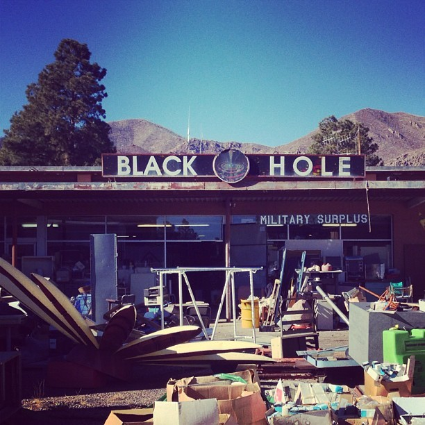 The Black Hole Surplus Store and Museum - Everything ends up here. #roadtrippin #LosAlamos (at The Black Hole)
