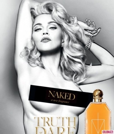 Madonna goes topless for Naked Fragrance! See our gallery of the 17 sexiest celebrity ads by clicking the image above!