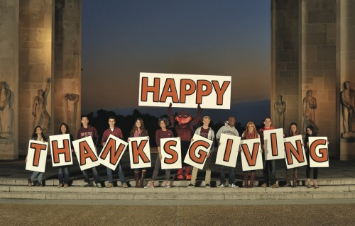 virginiatech:  Happy Thanksgiving to Hokies everywhere, from all of us here at Virginia Tech!  Happy Thanksgiving from Turkey U!