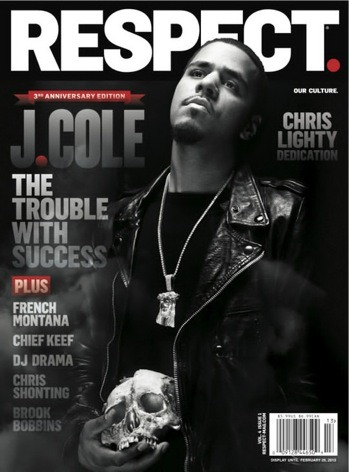 I love it! Rapper J. COLE covers RESPECT's 3rd year anniversary issue which hits newsstands November 27th! I like the cover and respect that it's the 3rd year celebration, (#salute) but what I LOVE is the CHRIS LIGHTY Dedication that's enclosed! Be sure to pick it up! xo @RozOonTheGo Spotted @RapRadar