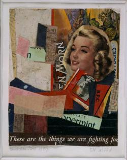 archives-dada:  Kurt Schwitters, En Morn [Un matin], 1947, 32x26,5 cm, collage, Paris, centre Pompidou.