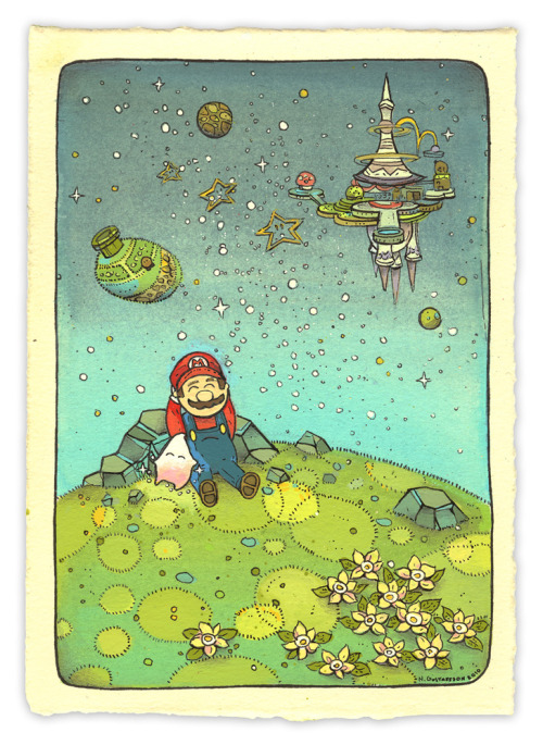 Power Up Down Super Mario illustrated by Nicole Gustafsson :: via ngustafsson.blogspot.ca