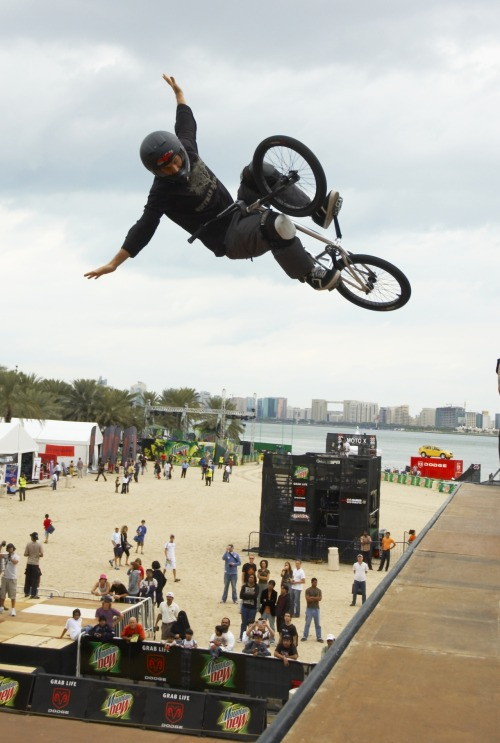 "Mat Hoffman remains the BMX Vert variation king. Check out his ""Fantasy run"" released in 2001. http://es.pn/Ufrgq4"