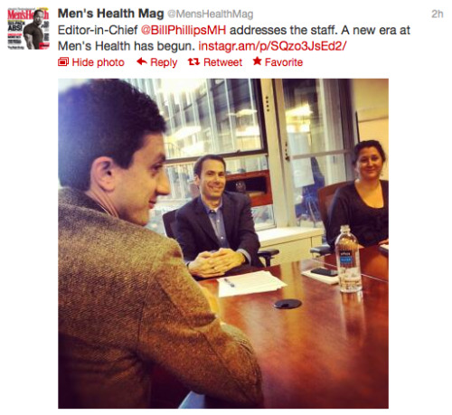 Want more live updates from the staff at Men's Health? Follow @MensHealthMag on Twitter!