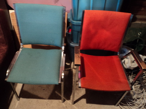 Straight from the 70s, these two office chairs also go great at the kitchen table. $5 each or take em' both for $8.