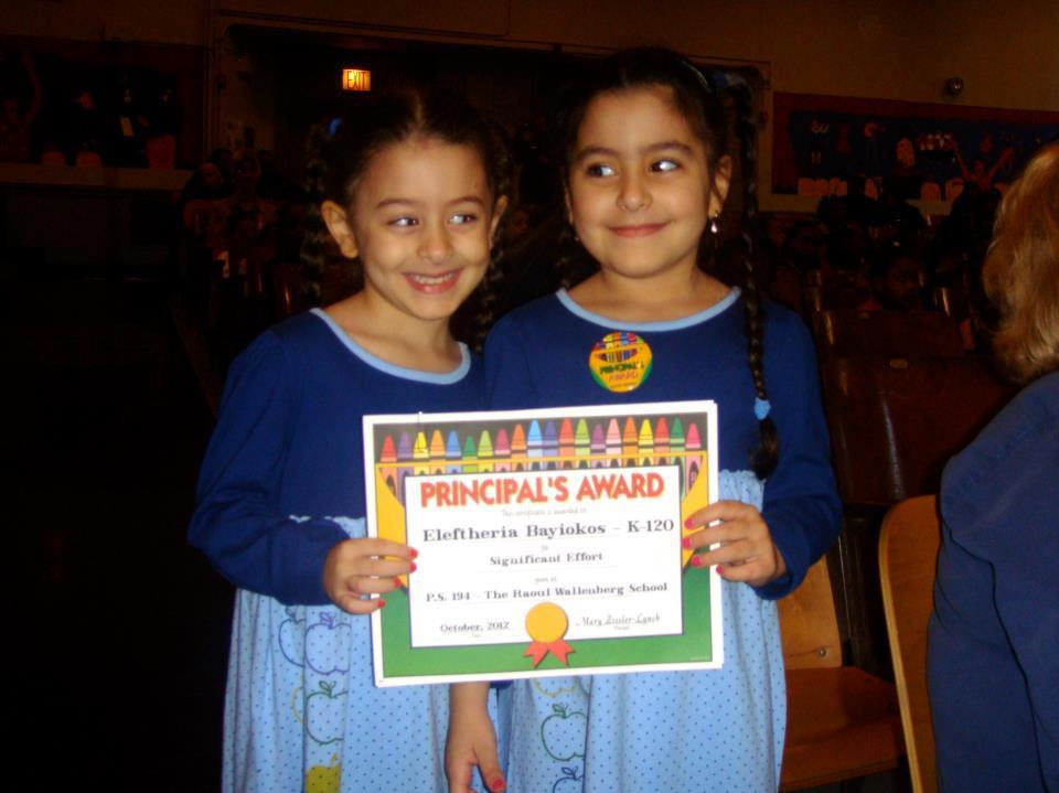 Ria (on the right) wins her first award!  And I get to see these two cuties tomorrow, can't wait.