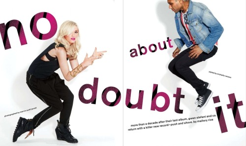Stoked about this spread of No Doubt in November's issue of NYLON…Loving Gwen Stefani in our Pentagram Cuff!