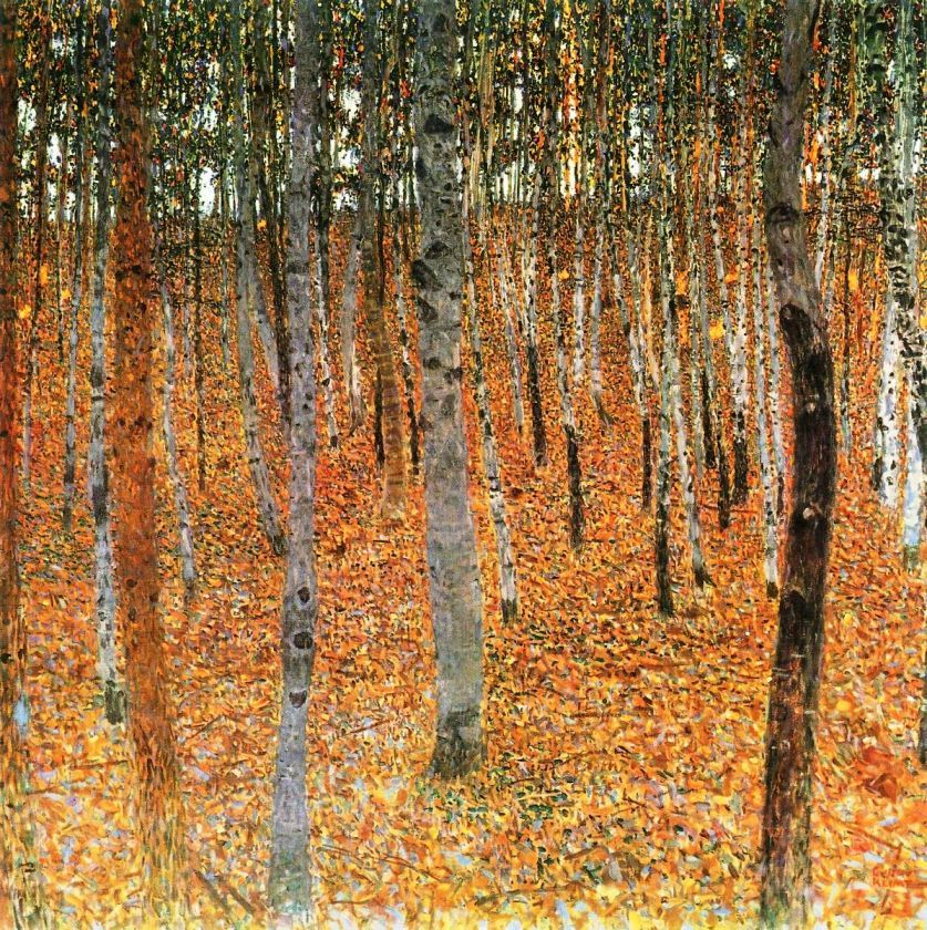 idealise:  birch forest I, 1902 by Gustav Klimt