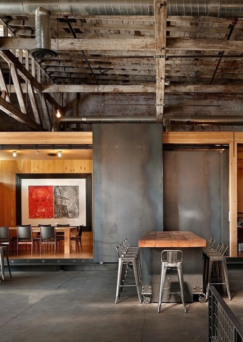 justthedesign:  Industrial/Rustic Dining Room