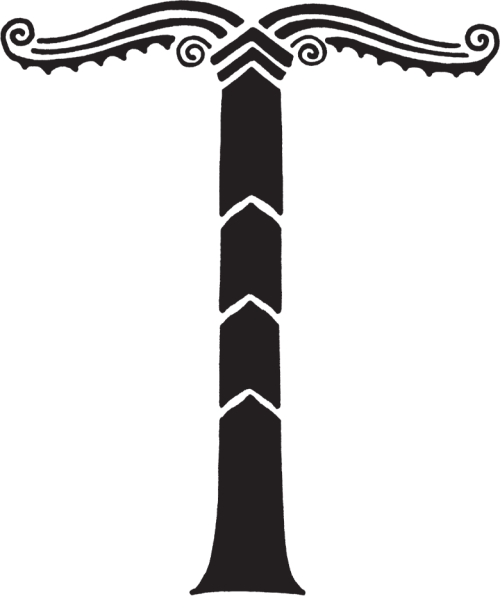 culturapagan:  Irminsul The irminsul is a common symbol of the Asatru faith. The historical irminsul was a solar-phallic pillar used in religious worship practices by early Anglo-Saxons, and destroyed by Charlemagne in 772 AD. It's exact meaning is unknown, although it may be connected with the Anglo-saxon deity Irmin, who is possibly related to the Norse God Tyr (a theory supported by the shape of the runelette r tyr). The Irminsul was likely related to the World Tree Yggdrasil, a symbol of the axis mundi (world axis), a symbol of man and the cosmos. spacer Modern Irminsuls usually consist of an upright pole or cross, representing the union of earth with the heavens, and are often surmounted or hung with a solar wheel or sun cross.