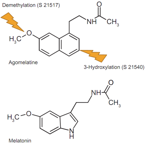 Figure 1 from 'Agomelatine: Its Role in the Management of Major Depressive Disorder' Published in Clinical Medicine Insights: Psychiatry