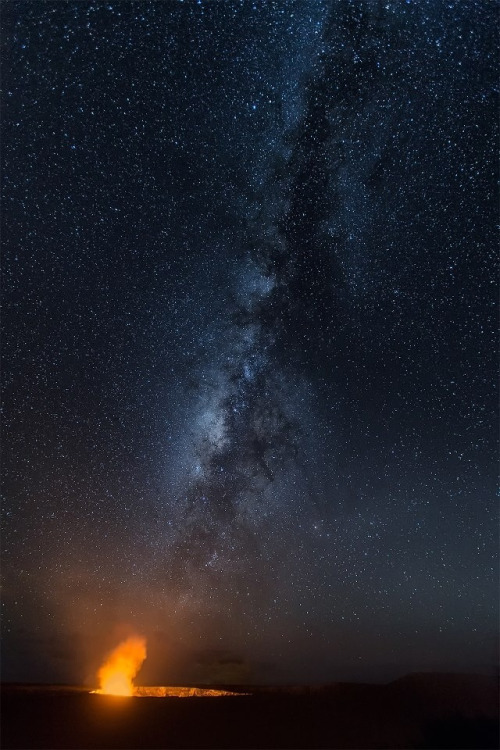 The Milky Way over the Kilauea volcano in Hawaii, credit: Julie Kangas