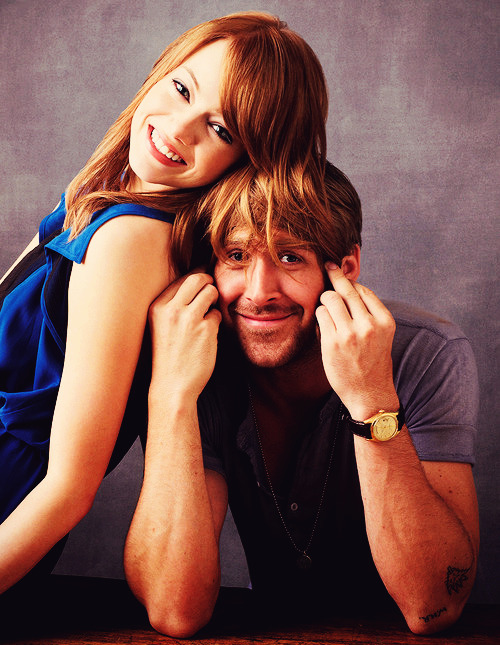 Can anyone think of a funny caption for this picture of Emma Stone & Ryan Gosling?