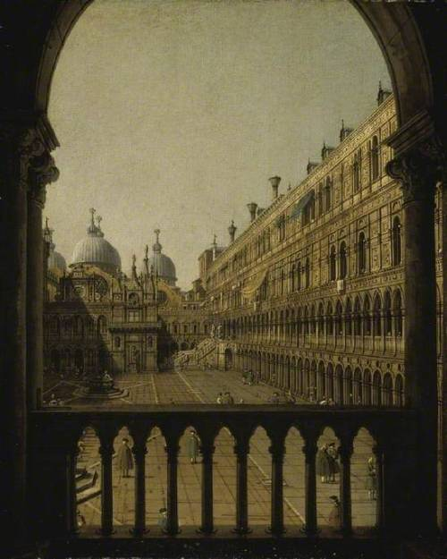 thorsteinulf:  Canaletto - Interior Court of the Doge's Palace, Venice (c.1756)