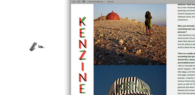 Small interview about shooting the KENZO / NEW ERA campaign on the kenzo blog