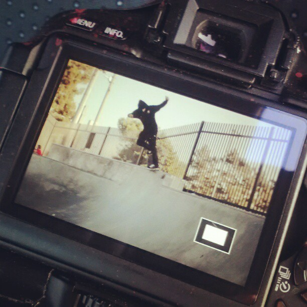 We out here getn it. Backside over crook  (at Chino Skate Park)