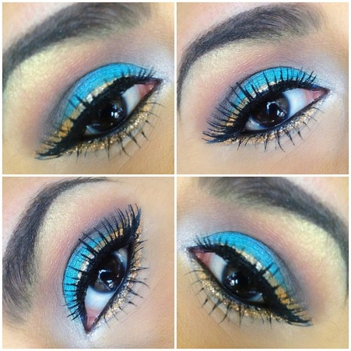 Pretty turquoise and gold eye by Nancy Z.!