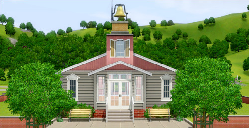 Beta version of the Wedding Chapel. I'm having a real hard time trying to decorate the inside, I don't want it to look too fancy.