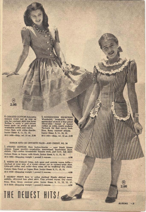 ~ Aldens catalog, Fall-Winter 1946 via Flickr