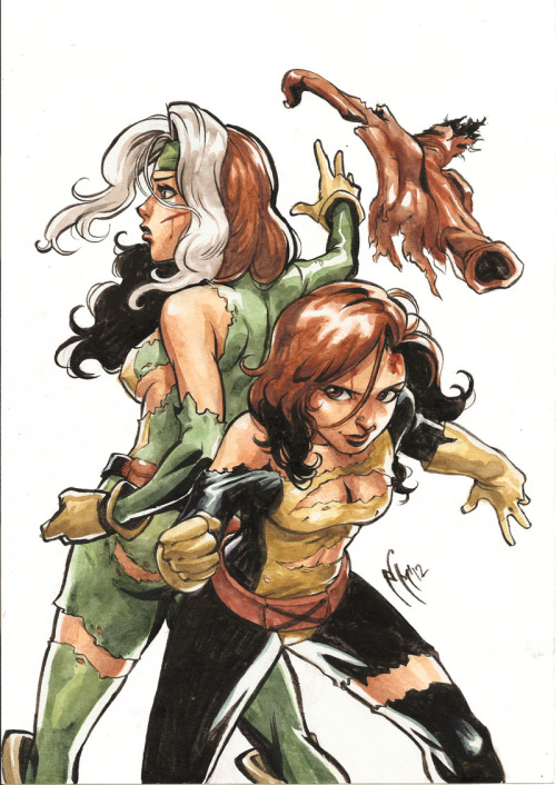 lulubonanza:  Rogue and ShadowCat by *MarcelPerez