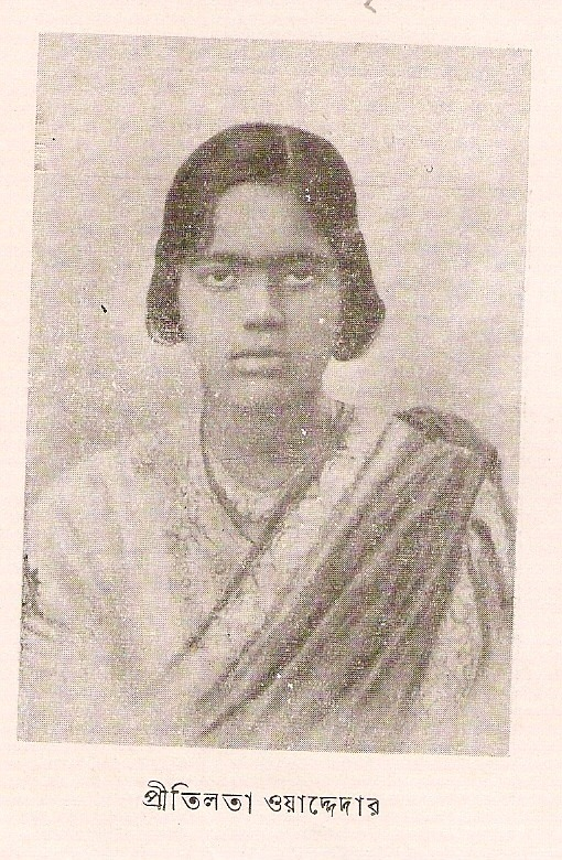 southasianhistory:   Pritilata Waddedar was an anti-British pro-India revolutionary in East Bengal, (then part of region of Bengal in pre-independence India), presently in Bangladesh. Pritilata was born to a humble family. Her father was a clerk in the Chittagong Municipality. She was an intelligent student at the Khastagir High School of Chittagong and passed the matriculated in first division in the year 1927. She continued her learning in EDEN COLLEGE, Dhaka and in 1929 passed the Intermediate examinations securing the first place amongst the candidates from Dhaka Board. Two years afterward, Pritilata graduated in Philosophy with distinction from Bethune College of Kolkata. Pritilata had partaken in 'activities subversive to the state' since her studies in Eden College. She became an associate of Sree Sangha in the Dipali Sangha led by Lila Nag. In Calcutta she was an associate of the Chhatri Sangha led by Kalayani Das. After graduation she returned to Chittagong and took up the profession of the headmistress of a neighboring English medium secondary school named Nandankanan Aparnacharan School. In the 1930s, there were a lot of radical groups all over Bengal and Chittagong. Members of these groups thought that India's liberty could be achieved only through armed struggle. Pritilata believed that time had come for women to take an important responsibility in the armed fight against the British. They needed to surrender their lives if essential, and tackle all risks, dangers and troubles, on similar foothold as their male comrades. She was involved in operations for demolition of the Telephone & Telegraph workplace and the capture of the reserve police line. She took part in the Jalalabad battle, in which her liability was to provide explosives. In one of the missions in 1930, Pritilata was sent to Alipur Central Jail of Calcutta to meet up Ram Krishna, who was a political captive, sentenced to death and was behind the bars under firm surveillance and in absolute privacy. Pritilata went to Dhalghat to meet her mentor 'Mastarda' at his hiding place on 13 June 1932. The location was enclosed by a police throng and there was a fight in which some revolutionaries lost their lives. Mastarda and Pritilata were able to flee. Immediatedly her name was enlisted in the 'most wanted'police list. In 1932, Surya Sen designed an assault on the Pahartali European Club, which bore the disreputable sign 'Dogs and Indians not allowed'. He assigned Pritilata to lead an aggressive team that would demonstrate their protest in the Club on 23 September 1932. Members of the team were instructed to take potassium cyanide with them so that in case they were trapped by police they could consume if caught. The attack was victorious but Pritilata, dressed as a man was trapped without a way to escape on that crucial night. She committed suicide by swallowing the cyanide. She was only 21 when she died. Her martyrdom provided an enormous stir and acted as a motivation for revolutionaries in Bengal and India. (via)