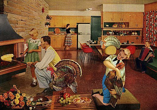 This whimsical, retro Thanksgiving collage by Angelica Paez has us all giggles. (via MadSilence)
