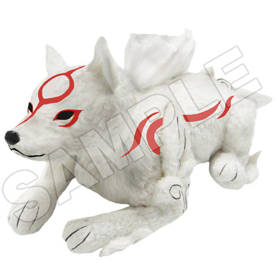 Okami, the tissue holder. This stuffed Amaterasu slips over a tissue box, so you can keep a stuffed wolf god on your desk or bathroom counter, and then pull a tissue out of a stuffed wolf god's back when you sneeze. You know, because you liked a video game. So that's what life on Planet Earth is like now. For ¥4,800. Buy: OkamidenSee also: More Okamiden stuff