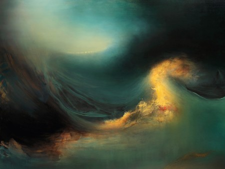 This is some of the most amazing artwork I've ever seen. Samantha Keely Smith is definitely one of my new favorite artists. She captures the waves of the sea in such a realistic yet abstract way (does that make any sense?) and the emotion of what she's trying to convey comes out so clearly. This painting is titled Mutiny. Here is Samantha's website: http://samanthakeelysmith.com/