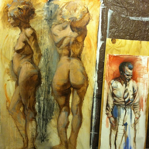 #art #nude #paint #painting #studio #progress #figure