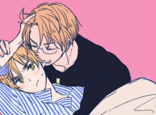 "saywhat-hetalia:  ""Quit it."" ""Make me."""