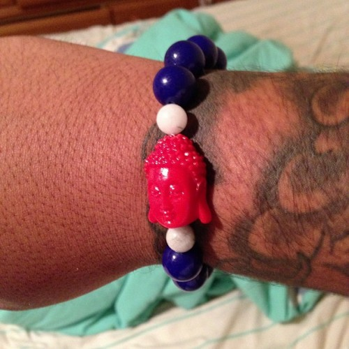 milehighclub420:  My bracelet just came in! #Cambodian #Bracelet #Buddha  YAY! quick too! haha verrrrdy niaaaaaoce! lol :)