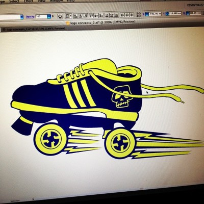 Logo design concept for a Junior Roller Derby League.