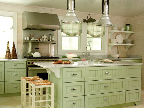 Sea Green Clean Kitchen