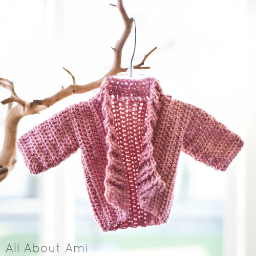 Sneak peek of upcoming blog post: Arbor Baby Sweater (free pattern via Sarah Cooper found HERE)