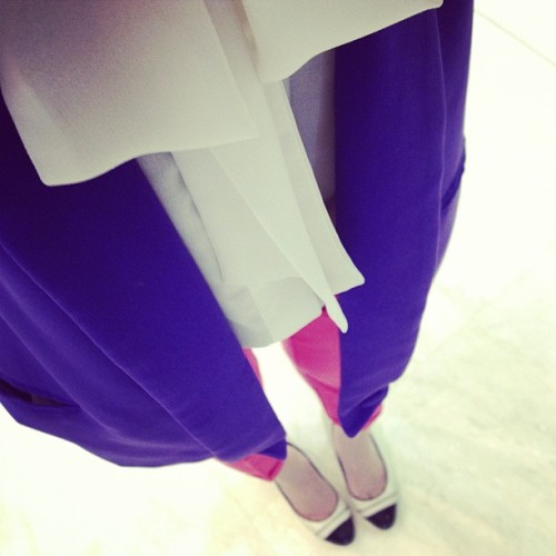 #ootd #bow #pink #purple