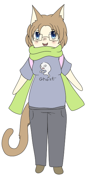 Drew myself, because I felt down again :c What I was wearing yesterday.