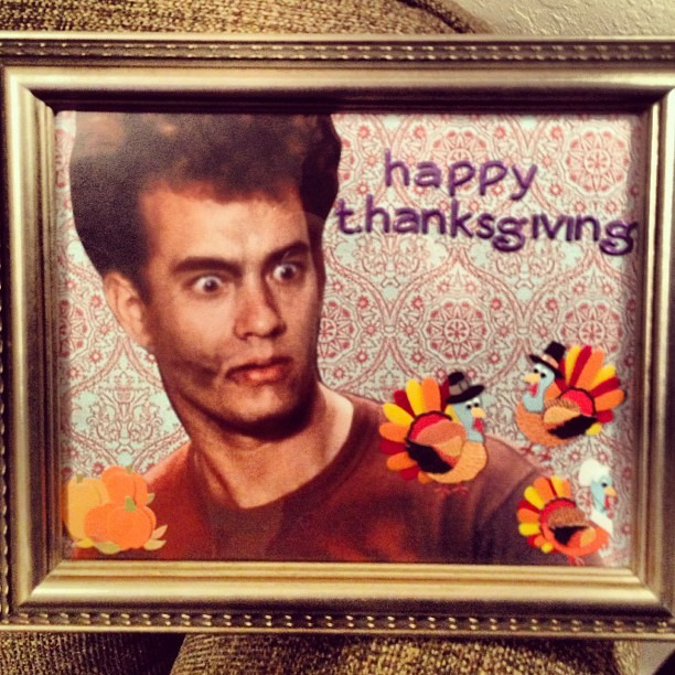 finding-joy:  All set for t.hanksgiving!  There are no words to describe how jealous I am of my sister's T.hanksgiving decor.