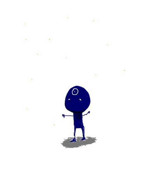 Dr. Manhattan doodle of the day. Starstuff. This one was drawn in Penultimate.