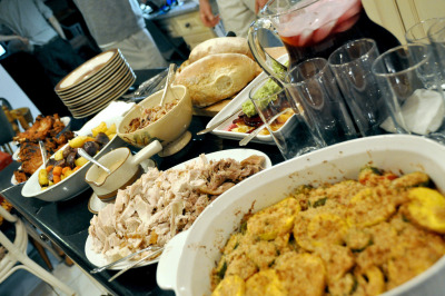 Thanksgiving dinner spread (Photo by Allie from Vancity)