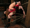 Mistress harmony has her sub boy all tied up she @dominant-mistresses