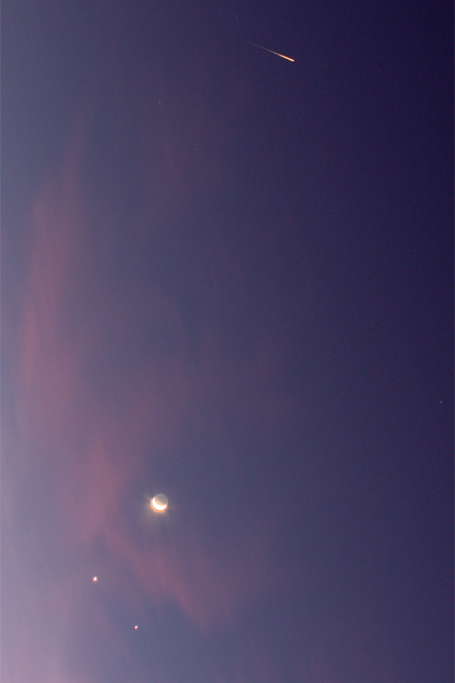 Moon, Planets, and Iridium