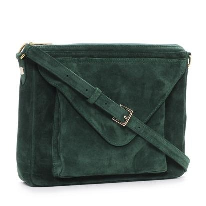 Simone bag emerald suede