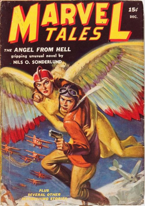 celamowari:  Marvel Tales, the original Martin Goodman pulp magazine. This is apparently the first issue (Dec. 1939) under that title. (via Pulp Covers)