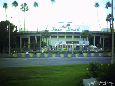 Tilt shift photography… The Rose BowlPasadena, CA