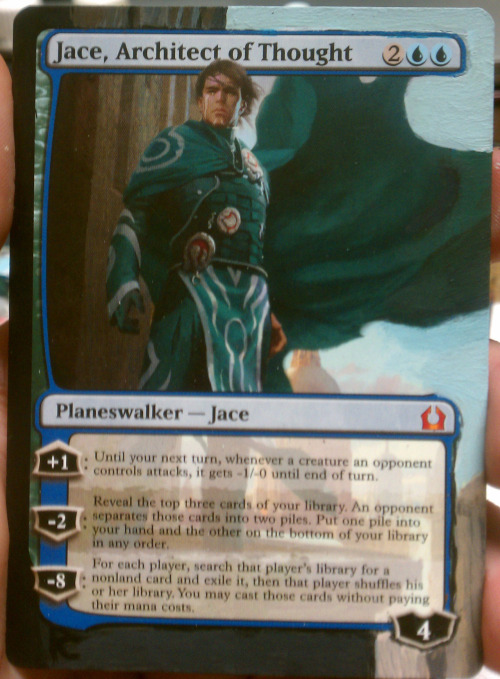 Last one for now. A Jace for my Jenara deck. I also have an altered Mind Sculptor and book promo Baleren in it.