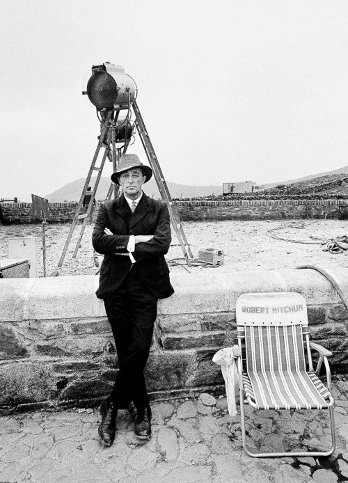 Robert Mitchum photographed by Gunnar Kallstrom on the set of Ryan's Daughter, 1969.